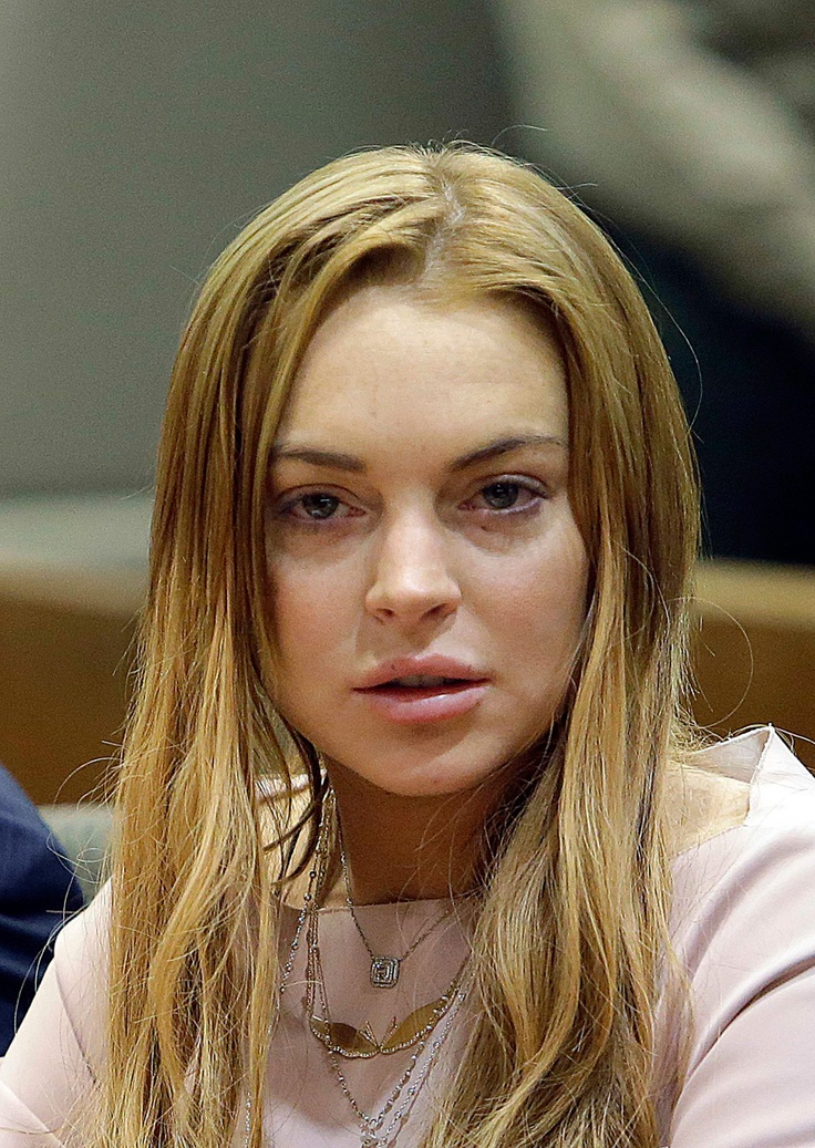 Lindsay Lohan today in...