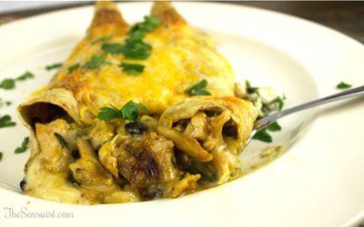 Chicken, Black Bean and Spinach Enchiladas A creamy spinach filling ...