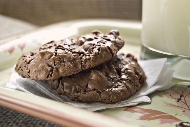 Flourless Chocolate Walnut cookies ... such a yummy cookie. Perfect ...