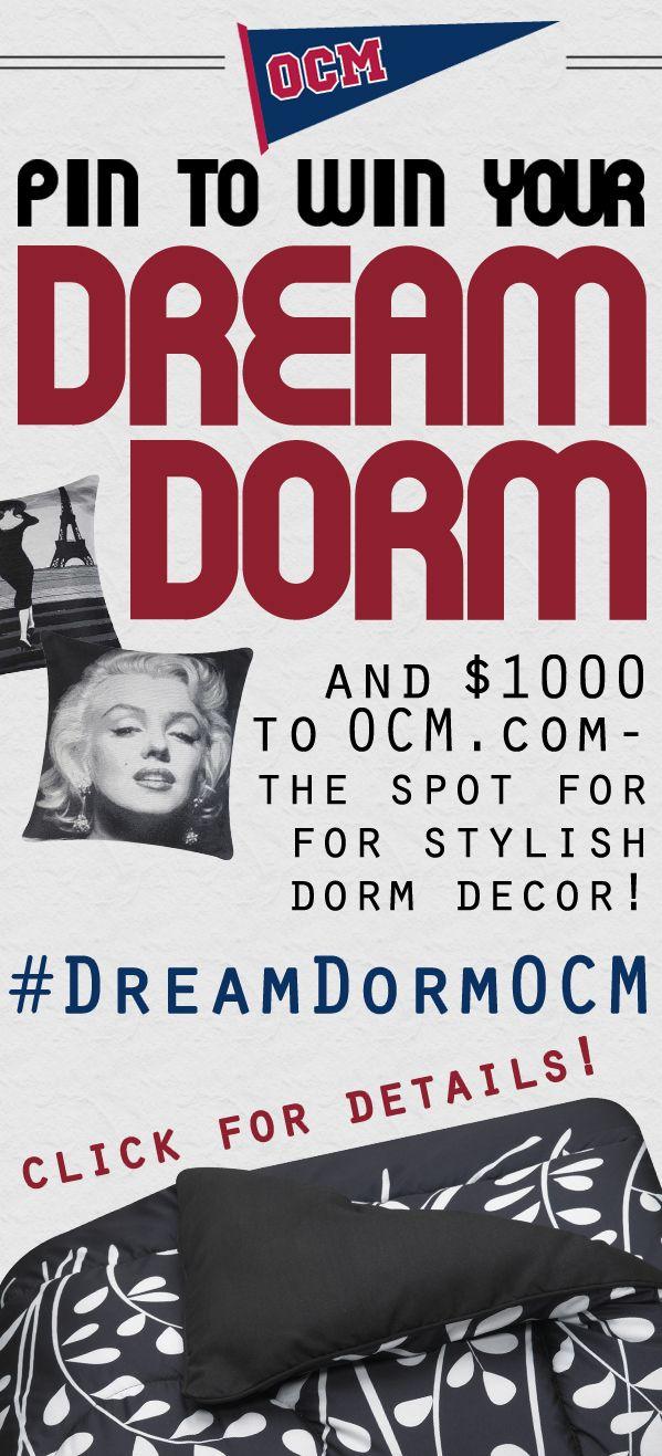 Enter to Win a $1000 Dorm Room Makeover from Ocm.com! #DreamDormOCM