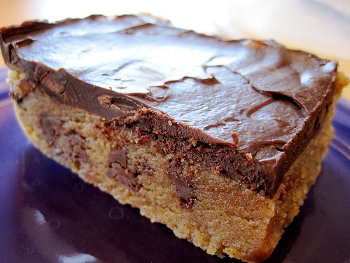 Chocolate Chip Blondies With Chocolate Ganache Recipes — Dishmaps