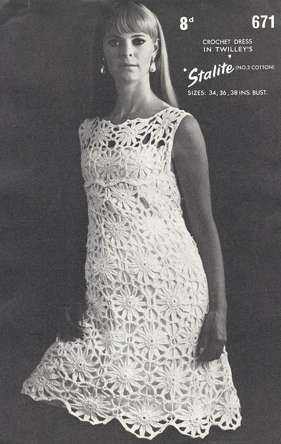 Free Vintage Crochet Clothing Patterns : Twilleys 671 Vintage Crochet Pattern - Ladies Crochet ...