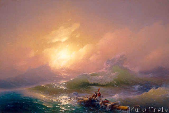 Ivan Konstantinovich Aivazovsky - Die neunte Welle (70,0 x 47,0 cm)