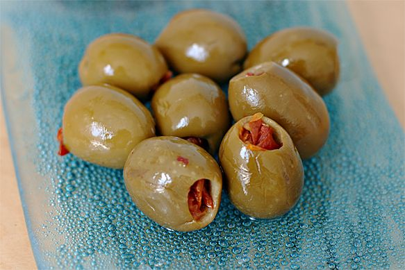 Sun-dried Tomato Stuffed Olives (I'm serving this with some Fiore Di ...
