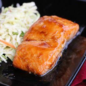 Ponzu glazed salmon with miso slaw | food i like | Pinterest
