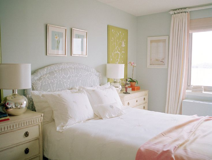 love the paint color, very soothing.  My Bedroom  Pinterest