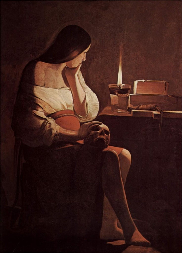 Mary Magdalene with a night light | Georges de la Tour c.1630-1635