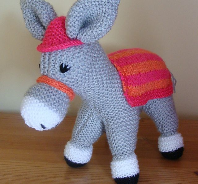 Free Dk Baby Knitting Patterns : The Woolley knitted donkey Knit toys (farm animals) Pinterest