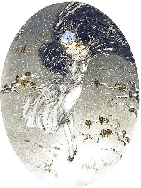 """~""""Les Frileux"""" (The Chilly Ones) ~Louis Icart ~*"""