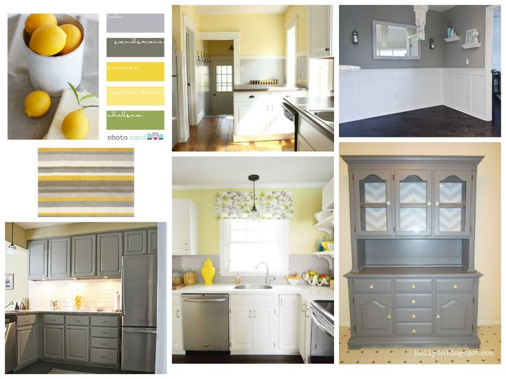 Model 12 gray kitchens for Gray and yellow kitchen ideas