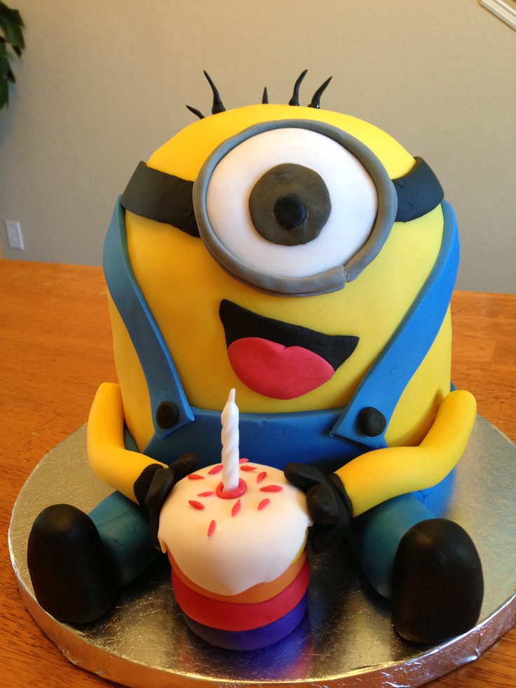 Minion Birthday Cake  Awesome cake designs  Pinterest