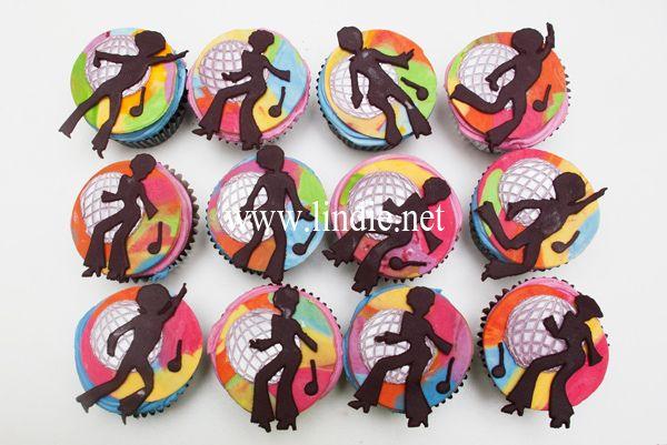 Disco cupcakes