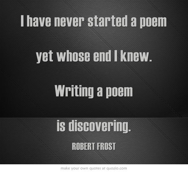 Robert Frost Writing