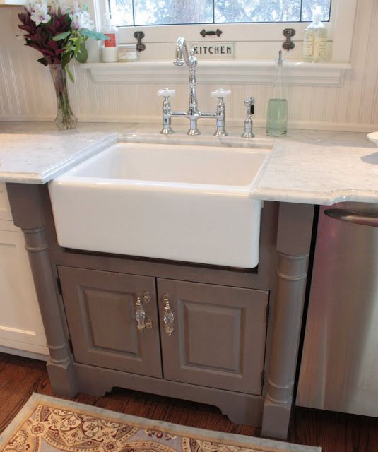Cabinet For Farmhouse Sink : Grey cabinet for farmhouse sink... Dream House Pinterest