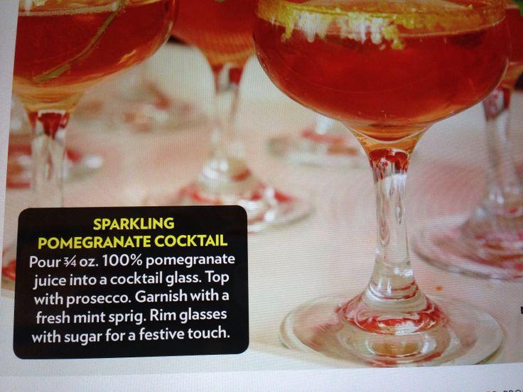 Sparkling Pomegranate Cocktail   Drinks   Pinterest