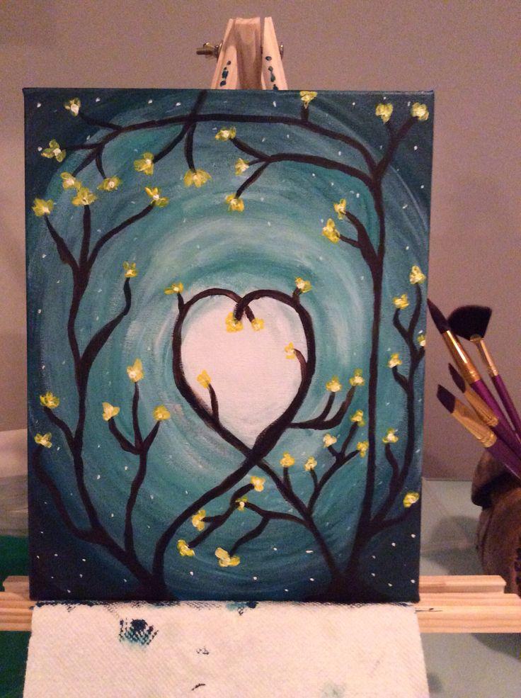 acrylic painting beginner paintings pinterest