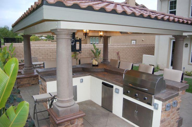 Kitchens  Luxury Outdoor Kitchens Islands  Orange County Landscape