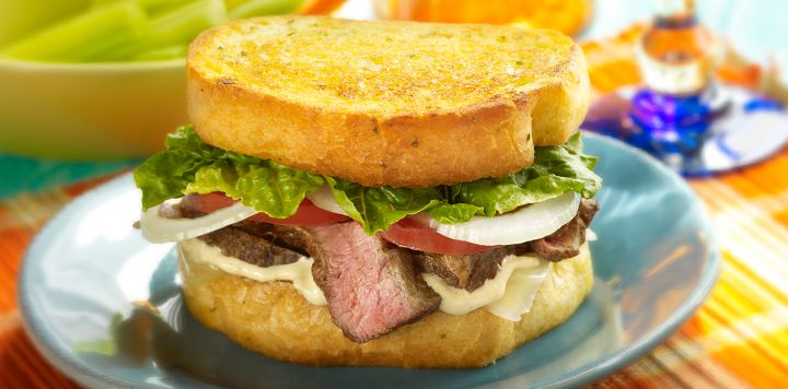 Grilled Steak Sandwich - Garlic Texas Toast makes a perfect foundation ...