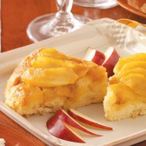Upside-Down Apple Cake with Butterscotch Topping | Recipe