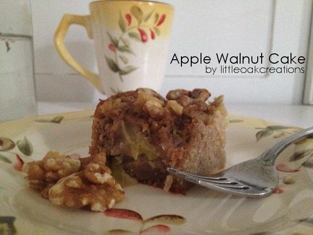Apple Walnut Cake | Little Oak Creation's Recipes | Pinterest