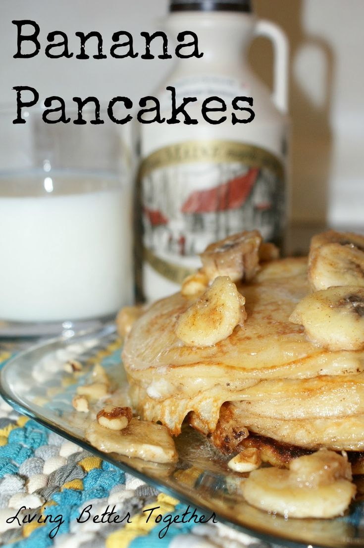 Banana Pancakes with Sauteed Honey Cinnamon Bananas and Maple Syrup by ...
