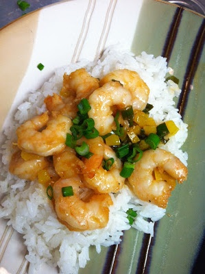 Stir Fried Sriracha Shrimp - Review | She Cooks, Too | Pinterest