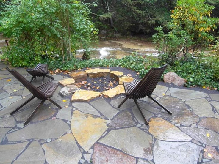 Stone Patio Fire Pit Home Pinterest