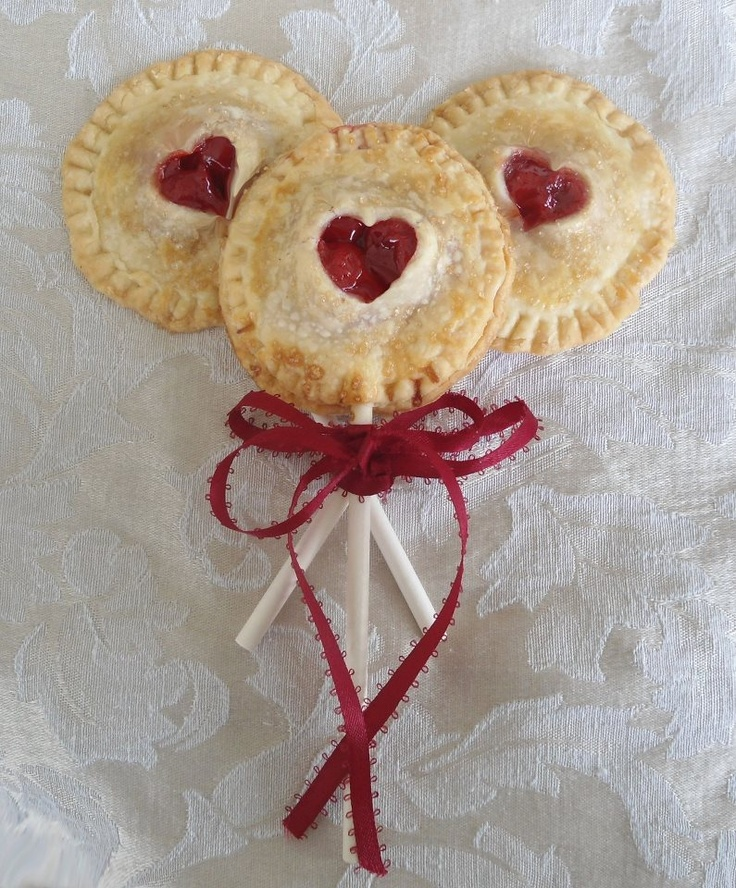 Cherry pie pops, can also do in blueberry and apple!