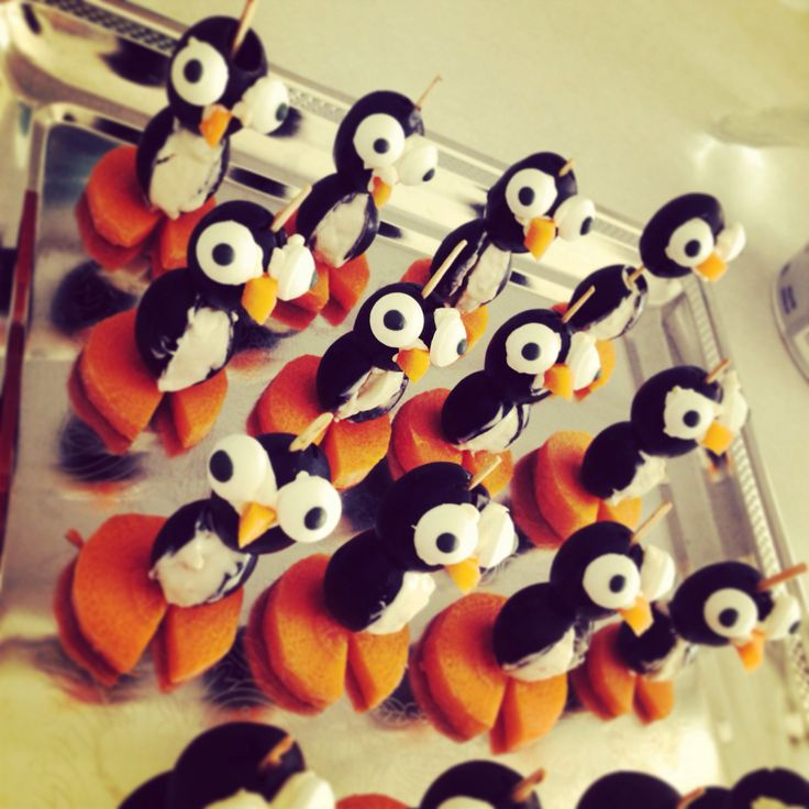 Cream Cheese Penguins | Christmas Recipes | Pinterest