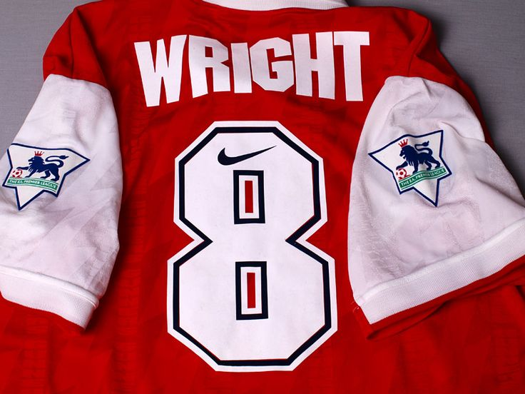 1994-95 Arsenal Match Worn Home Shirt Wright #No 8