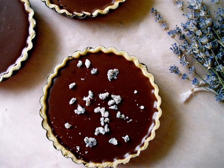 Chocolate Lavender Tart | Choco Really | Pinterest