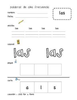teachers K Spanish Sight  word 2) (Set Worksheets sight pay worksheets Word teachers