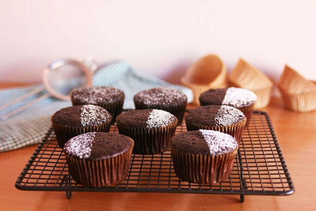Basic Vegan Chocolate Cupcakes (V). | Sweet Treats | Pinterest