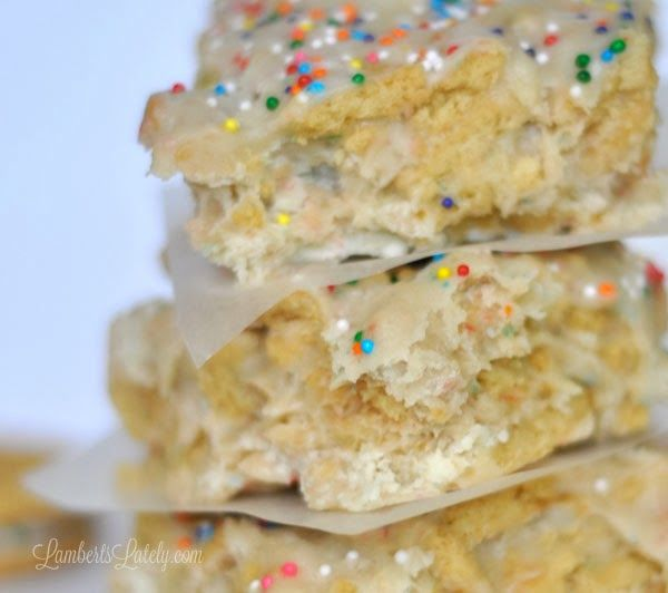 No-Bake Cake Batter Cookie Bars  LambertsLately.com