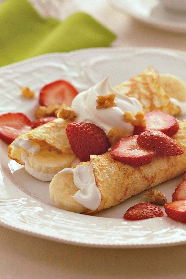 Strawberry-Banana Crepes | Recipe