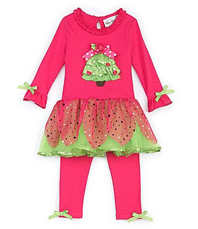 Months christmas tree tutu holiday dress and leggings set dillards