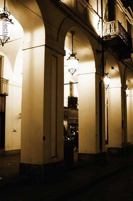 Torino, portici di via po