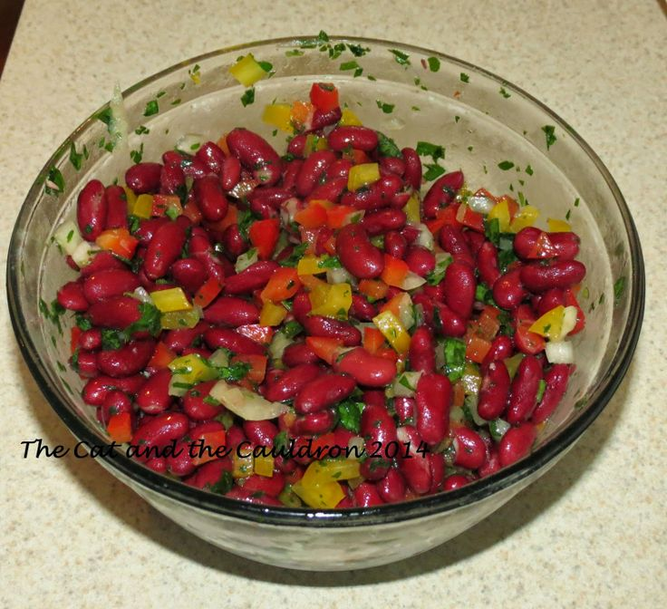 ... the Cauldron: Pinterest Project #72 Mediterranean Kidney Bean salad