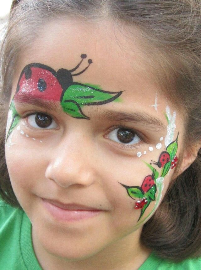 How to Paint a Ladybug Face