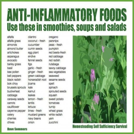 Wild image with regard to printable list of anti inflammatory foods