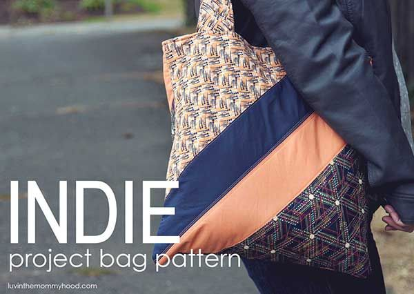 Fat Quarter Gang Tutorial - INDIE Project Bag by luvinthemommyhood