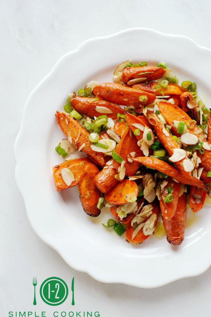 Carrot sesame almond salad
