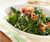 Sauteed Spinach with Bacon and Mustard - will try with Swiss chard and ...