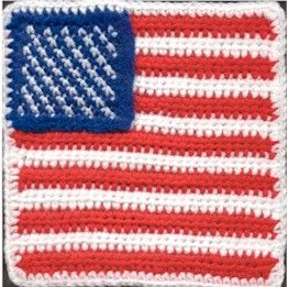 God Bless the USA Crochet - Granny Squares Pinterest