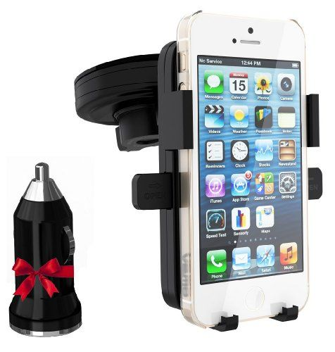 Cell phone holder for car with usb