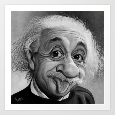 Playful Genius Art Print by Cliff Roth