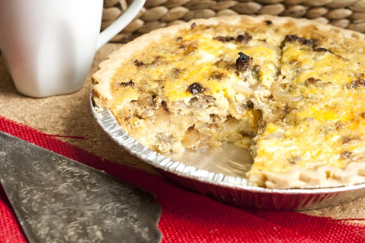 Gluten Free with L.B. | Caramelized Onion and Sausage Quiche | http ...