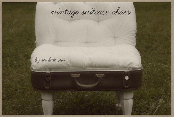 see kate sew: vintage suitcase chair.  Great tutorial!