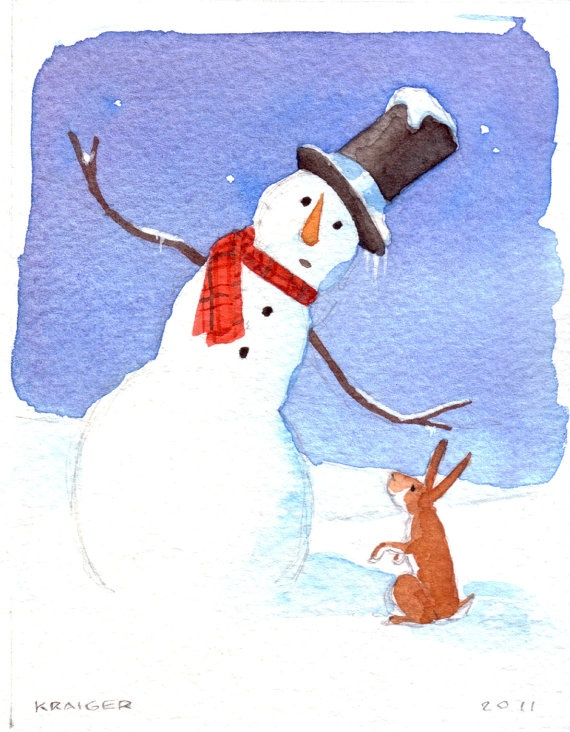 Snowman watercolor watercolor makes me happy pinterest for How to paint snowmen