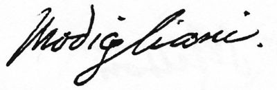 Amedeo Modigliani Signature | MODIGLIANI -  8.1KB